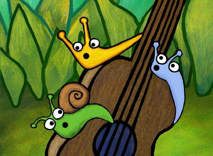 Slugs play the guitar!