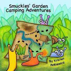 This book is full of shenanigans, silliness, and sound effects! The  slugs have a grand ol' time camping on the far side of the  garden. There's a surprise at the end!    Great for preschoolers.