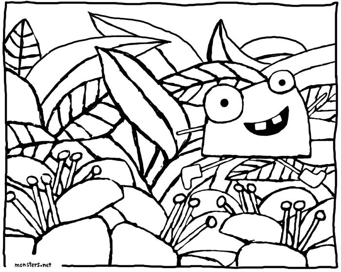 Sunshine monster coloring book