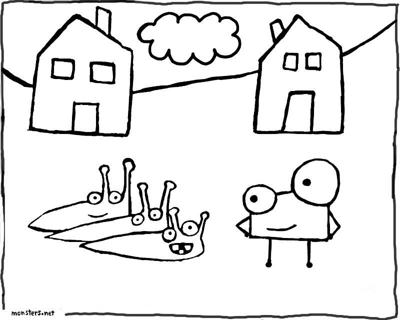 Slugs Coloring Book Page